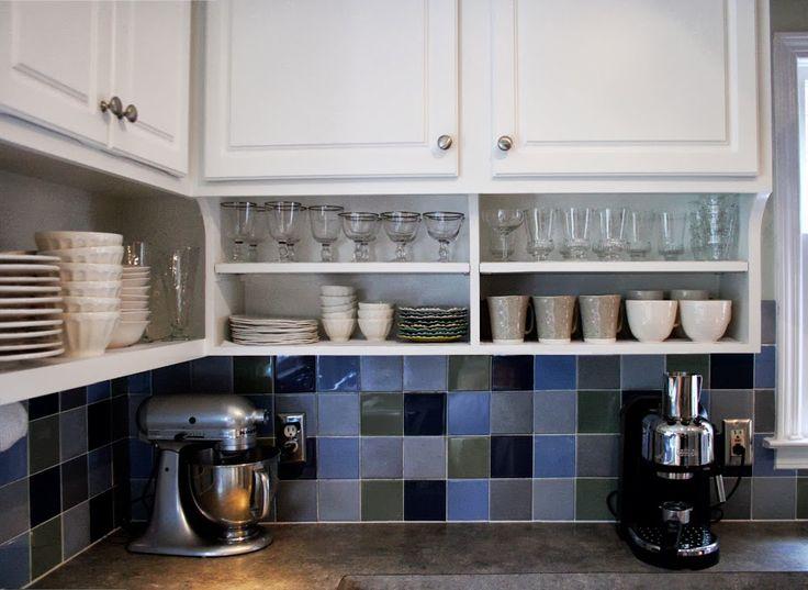 open shelves under existing cabinets kitchen pinterest. Black Bedroom Furniture Sets. Home Design Ideas