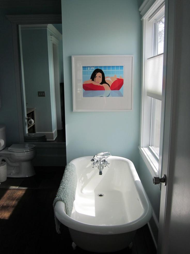 Vintage Clawfoot Tub With Modern Art Bath Tub Love Pinterest