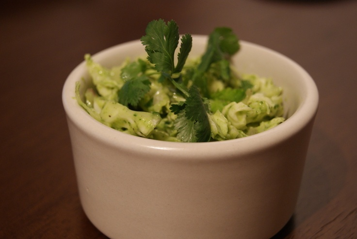... after scrambled egg! Avocado & Lime Coleslaw by A Nutritionist Eats