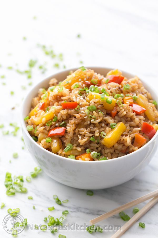 Pineapple Fried Rice: a quick and easy lunch. Great way to use your ...
