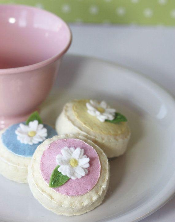 Felt Sugar Tea Cookies Spring Easter Pastels | I Felt | Pinterest