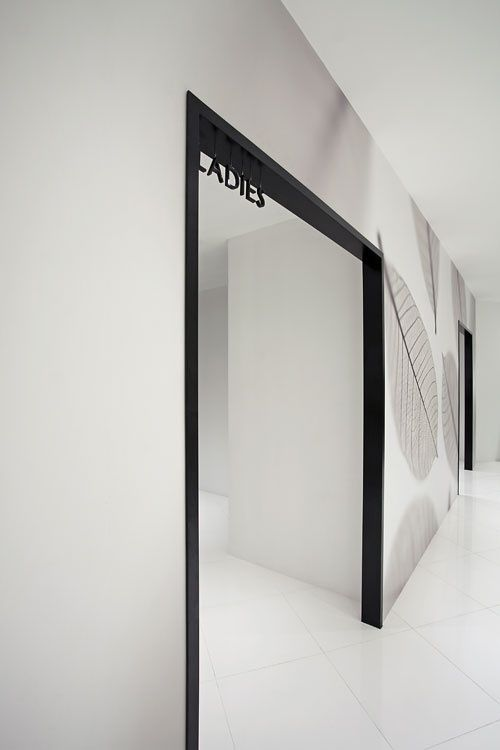 women's fitting room in the Asobio Channel One store in Shanghai by Japanese design firm Nendo