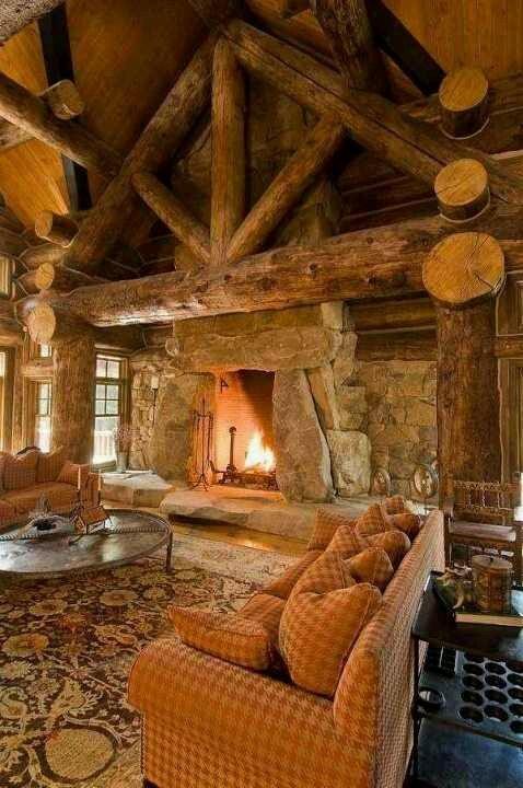 Log Cabin Living Room Anything Adirondack Pinterest