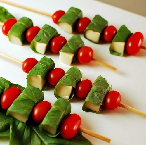 caprese skewers | Appetizers | Pinterest