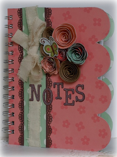 Notebook *My Little Shoebox and Punky Sprouts* - Scrapbook.com - Very pretty - #scrapbooking #minialbums #mylittleshoebox