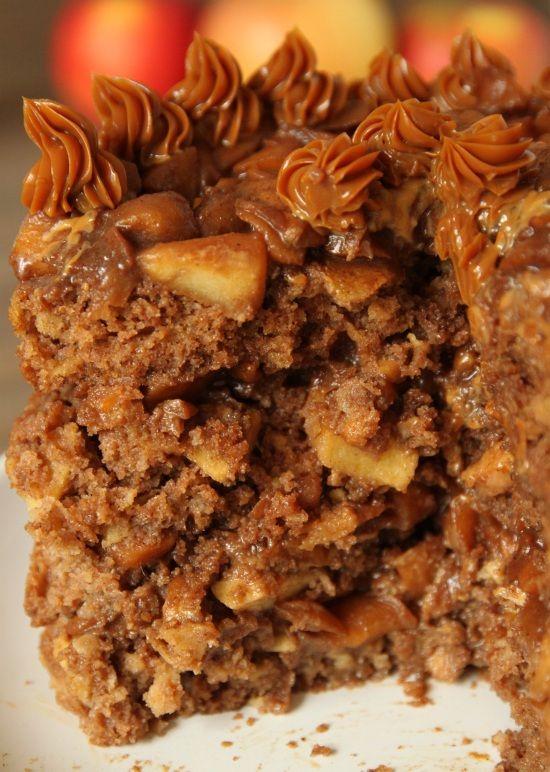 100% Whole Grain Apple Blondie Cake | Texanerin Baking