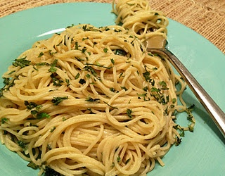 Cappellini With Lemon, Garlic And Parsley Recipe — Dishmaps