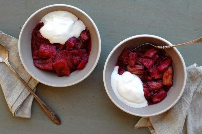 Roasted Rhubarb // Delightful Crumb | SUMMER - Food | Pinterest