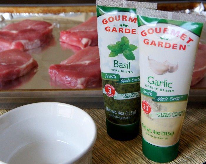 Grilled Basil and Garlic Pork Chops | Recipe
