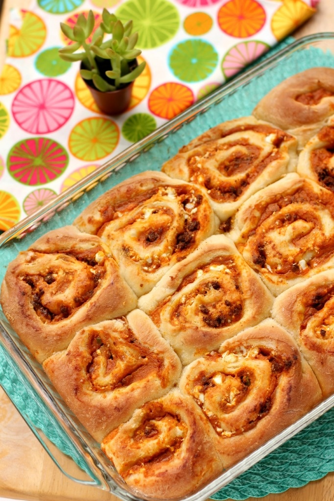 "Savory Sweet Potato & Chorizo ""Cinnamon Rolls"" (and a giveaway)"