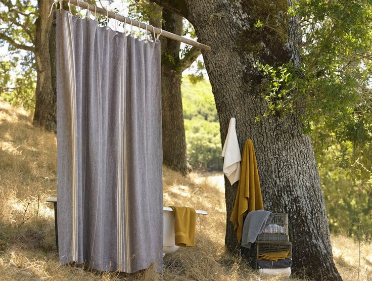 natural shower curtains & organic towels | if we build...bathrooms ...