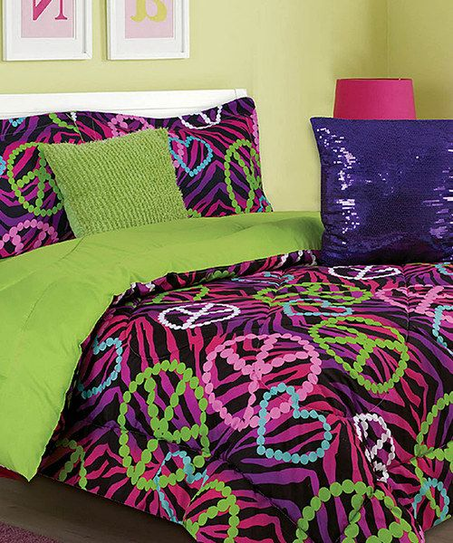 Purple Green Gino Comforter Set