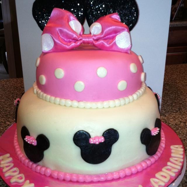 Minnie Mouse Fondant Cake Chloe s 2nd bday Pinterest