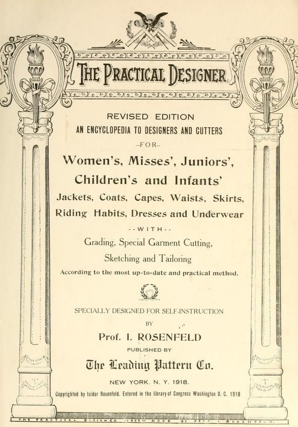 The practical designer rosenfeld isidor 1881 lots of patterns
