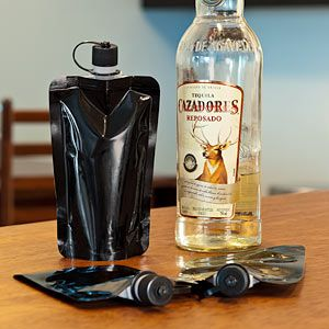 Disposable flask...$9.99 for those times you just don't want to lug around that unbearably heavy metal flask!