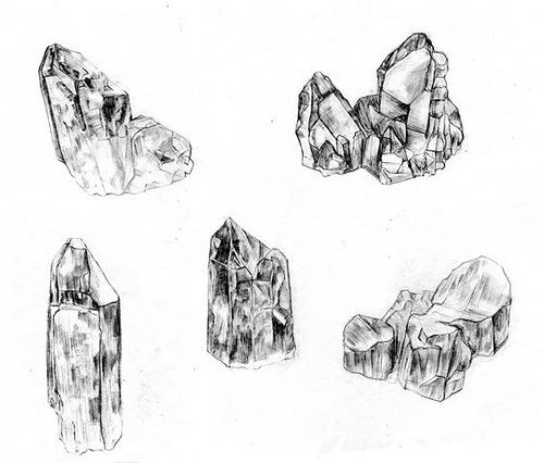 Found on earthshaped tumblr comQuartz Crystals Drawing