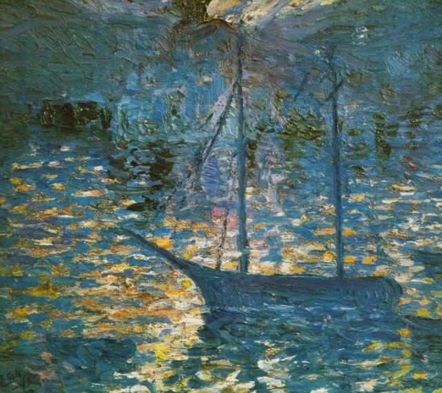 Boat circa 1918 ~ Salvador Dali (oil)