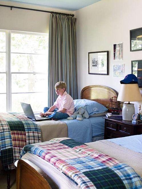 plaid blanket boys room bhg boy decor pinterest