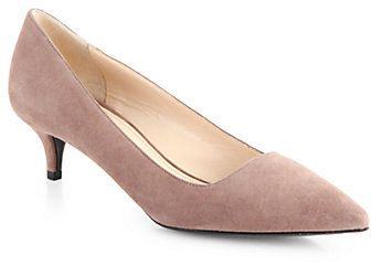 Prada Suede Point-Toe Pumps on shopstyle.co.uk