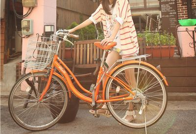 orange vintage bike...
