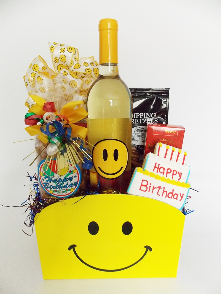 Happy, Happy Face Birthday Gift Box | Gift Baskets | Pinterest