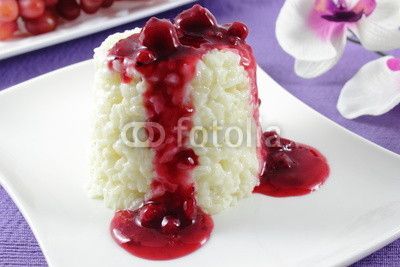 rice pudding with red fruit jelly | my fotolia: sweets and desserts ...