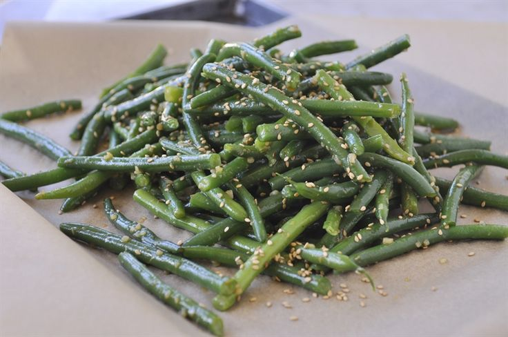 Sesame Garlic Ginger Green Beans Recipe — Dishmaps