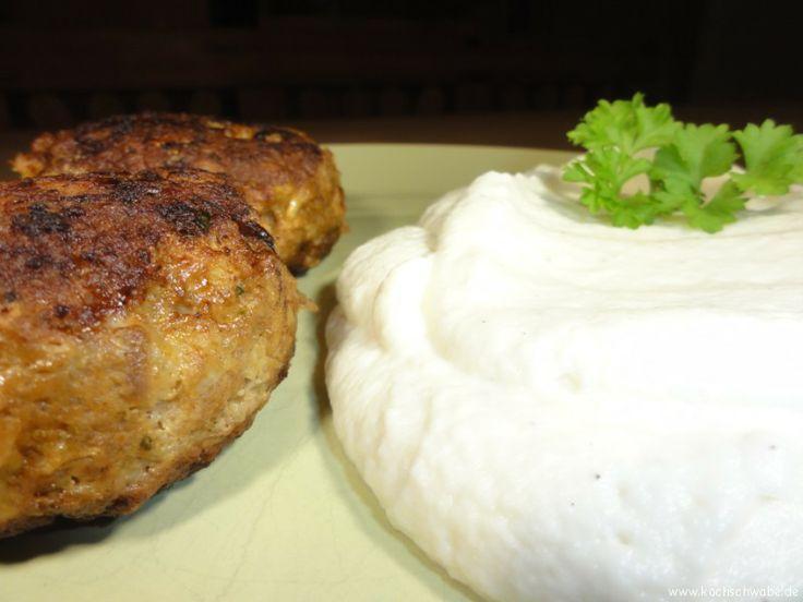 Fleischküchle mit Low Carb Püree