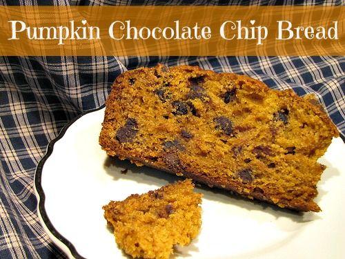 Pumpkin Chocolate chip Bread | Food Faves | Pinterest