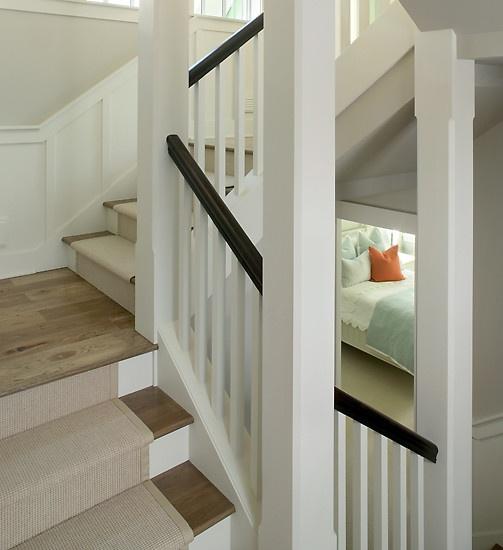 Stair Runner Design with wood landing : Living room : Pinterest