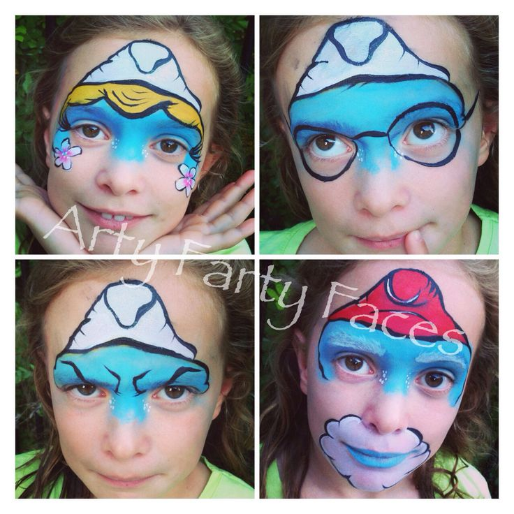 Smurfs Face Painting Movies amp Toons Pinterest