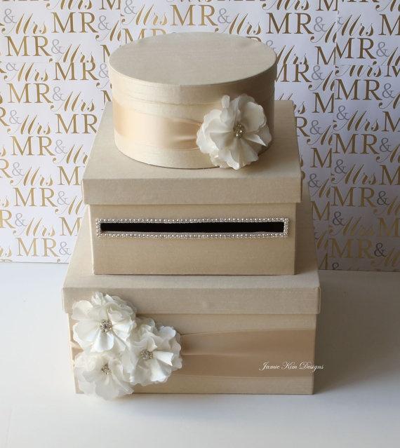 Diy Wedding Gift Card Holder : Wedding Card Box, Money Box, Gift Card Holder - Custom Made to Order