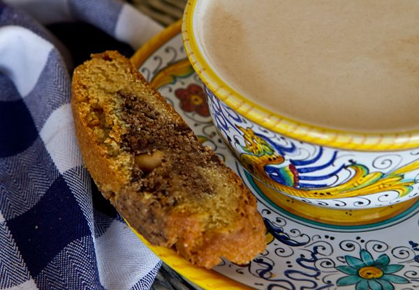 Italian Food Forever » Chocolate Peanut Butter Marbled Biscotti