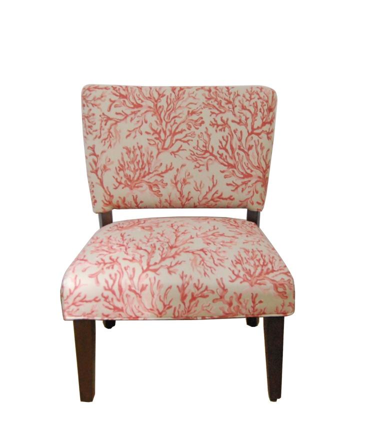 Floral Gigi Fabric Slipper Chair