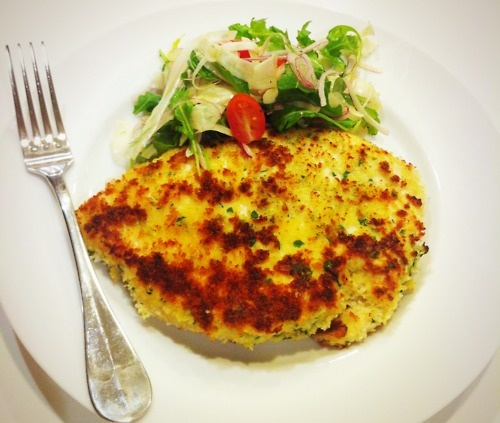 Chicken Milanese with Arugula fennel salad - http://roselovescooking ...