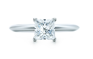 Princess cut Tiffany's engagement ring
