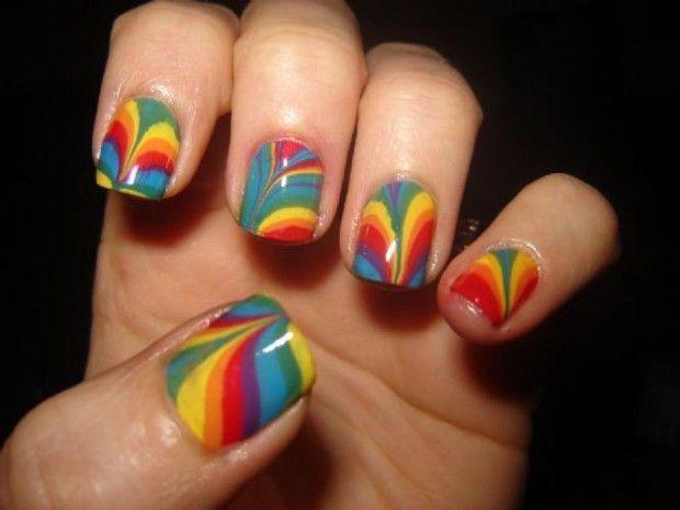 Nail Polish / Rainbow / Retro / 1980s