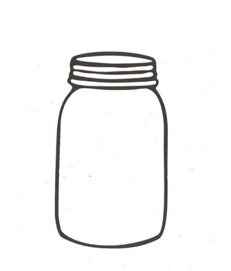 Mason jar silhouette. | Cooking - Recipe Binder | Pinterest