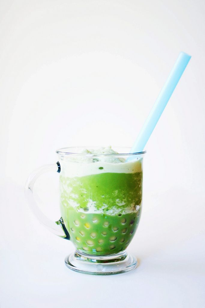 matcha green tea slushie with boba. | Healthy Eating / Clean Eating ...