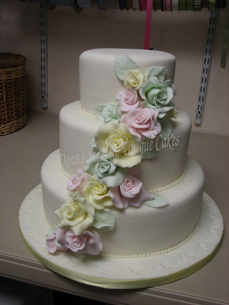 Denas Cakes Pastel Cake Flowers Wedding Cake Pinterest