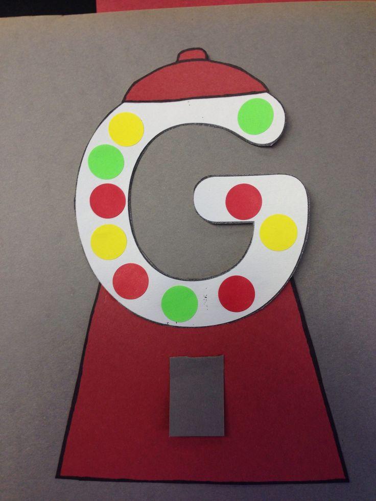 Letter G is for gum ball craft for kids | Alphabet | Pinterest