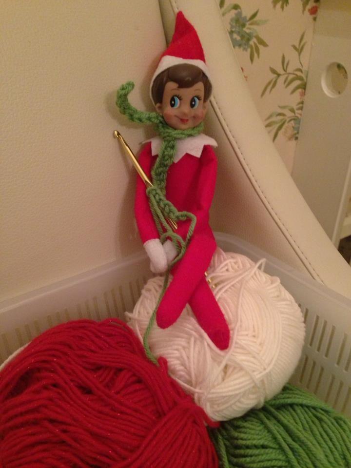 Elf on the shelf crocheting crochet inspiration pinterest