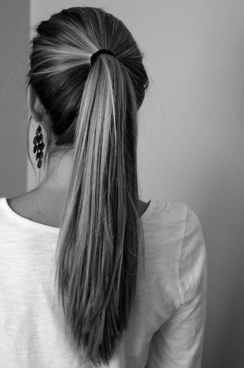 thick ponytail lovely hair pinterest