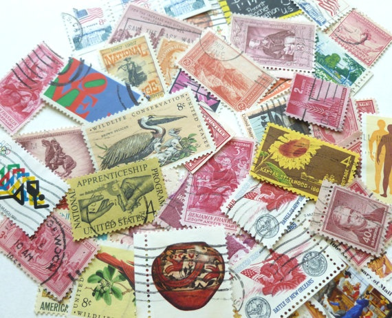 Vintage Postage Stamps Value