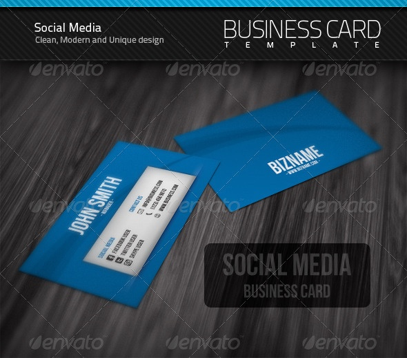 Social Media Business Card $6 Business Cards