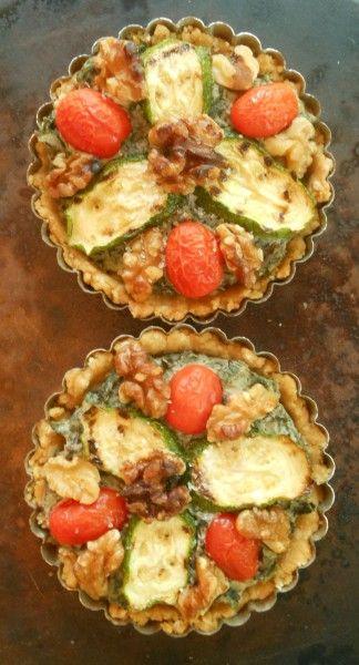 Vegan Savory Summer Tarts with Swiss Chard, Zucchini, Cherry Tomatoes ...