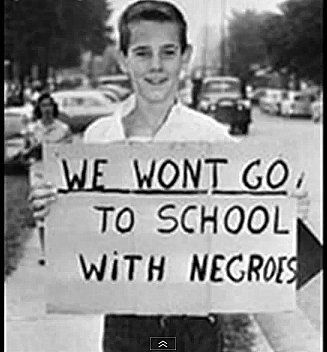 Segregation Protest Sign, National Archives. I can't ...