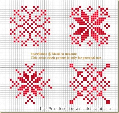 snowflakes REPINNED Cross stitch Charts Pinterest