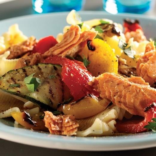 Wild Alaska Salmon Pasta Salad with Grilled Vegetables www ...