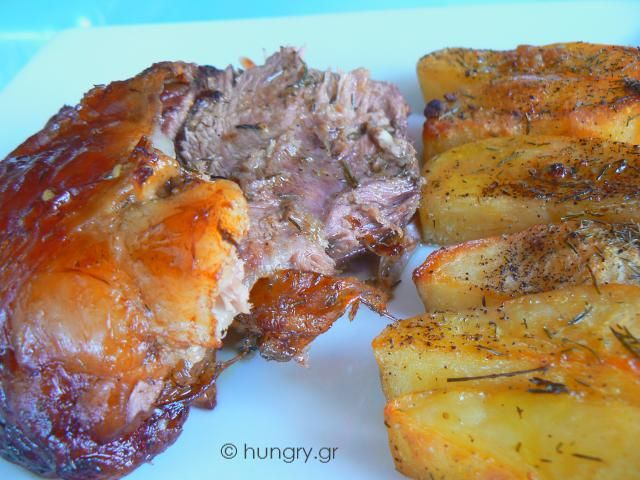 Lamb Shanks in the Oven with Potatoes | OPA! LAMB | Pinterest